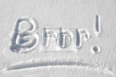 Naklejka Brrr jest zimno