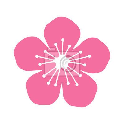 Naklejka Brzoskwinia i kwiat wiśni kwiat płaskim ikony dla aplikacji i stron internetowych
