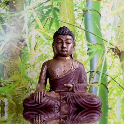 Naklejka Buddha mit Bambus