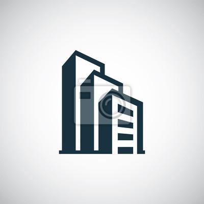 Naklejka Budynek ikona