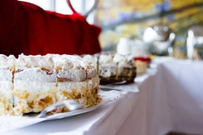 bufet z ciastami