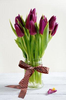 Naklejka Bukiet kwiatów w wazonie
