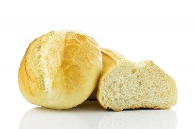 Naklejka Bułki pszenne na Białym TLE