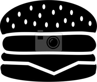 Naklejka Burger Hamburger Cheeseburger