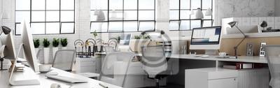 Naklejka Büroeinrichtung (panoramiczny)