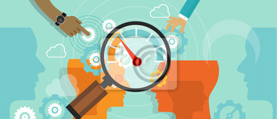Naklejka business benchmarking benchmark measure company performance