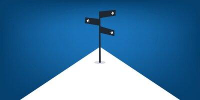 Naklejka Business Decision Design Concept with Road Sign - Eps10 Vector Illustration