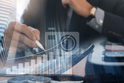 Naklejka Business investment concept