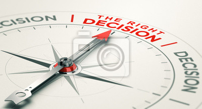 Naklejka Business judgement. Making the right decision.