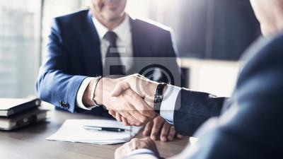 Naklejka Business partnership meeting in office