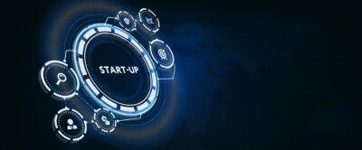 Naklejka Business, Technology, Internet and network concept.  Start-up funding crowdfunding investment venture capital. Entrepreneurship.