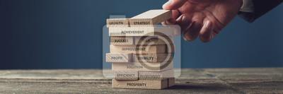 Naklejka Business vision and development concept