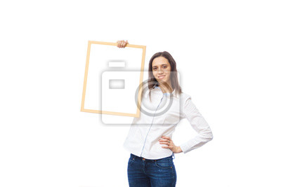 business-woman-standing-behind-a-blank-b