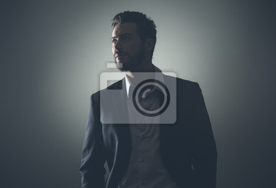 Businessman low-key portrait