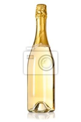 Naklejka Butelka szampana z kokardką dekoracji