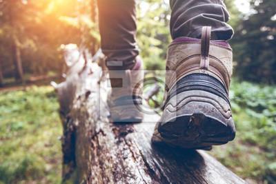 Naklejka buty turystyczne