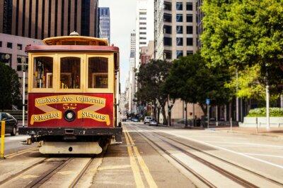 Naklejka Cable Car in San Francisco