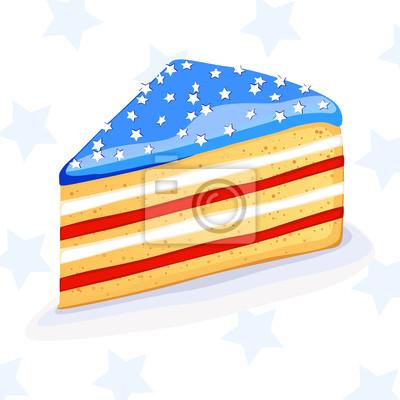 Naklejka Cake Vector w stylu amerykańskim