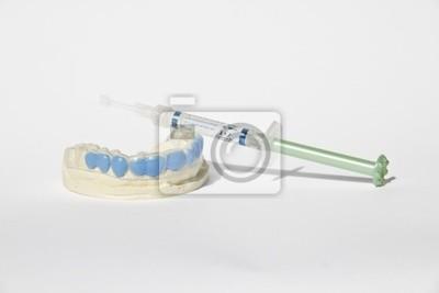 Naklejka Calco w zaprawy, mascherina, żel sbiancamento denti