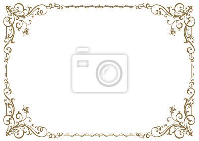 Naklejka Calligraphic frame and page decoration. Vector illustration