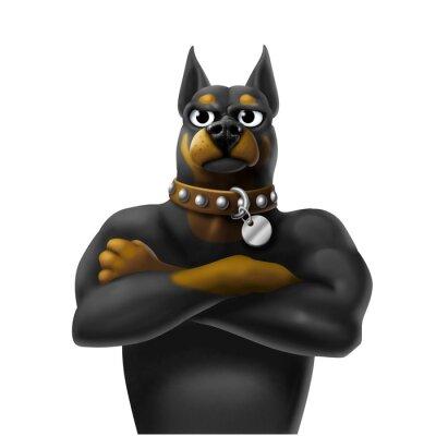 Naklejka cane da guardia