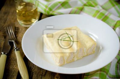 Naklejka cannelloni z Turcją w białym sosie
