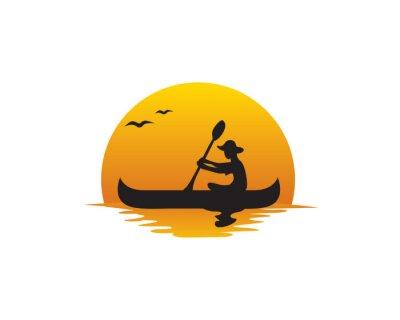 Naklejka Canoe Sunset