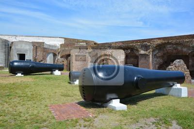 Naklejka Canon Fort Sumter jest morze fort w Charleston wyróżnia 2 bitew wojny secesyjnej. był jednym z wielu wielu specjalnych fortów planowane po wojnie z 1812 roku