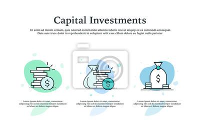 Naklejka Capital Investments Icon Concept