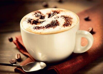Naklejka Cappuccino. Cup of Coffee Cappuccino