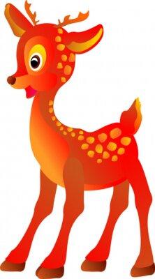 Naklejka cartoon małe jelenie, ilustracji wektorowych
