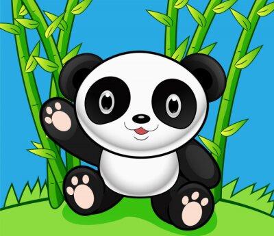 Naklejka Cartoon Panda