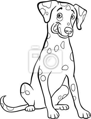 Naklejka cartoon pies dalmaty czyk dla kolorowanka na - Dessin de psy ...