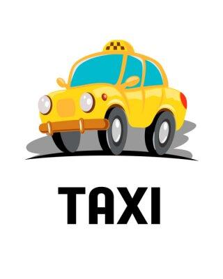 Naklejka cartoon samochód taxi