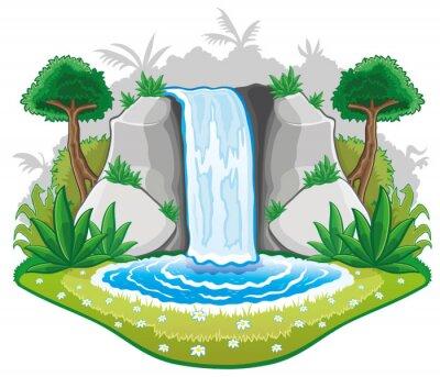 Naklejka Cartoon waterwall.