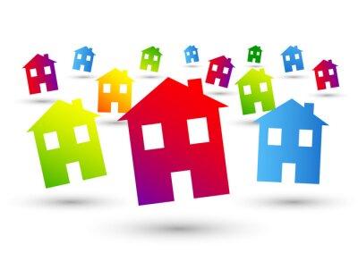 Naklejka casa, casetta, immobiliare, Casetta, Abitare