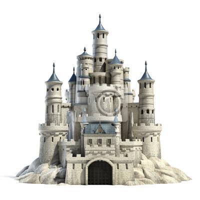 Naklejka castle 3d illustration