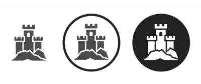Naklejka Castle icon . web icon set .vector illustration