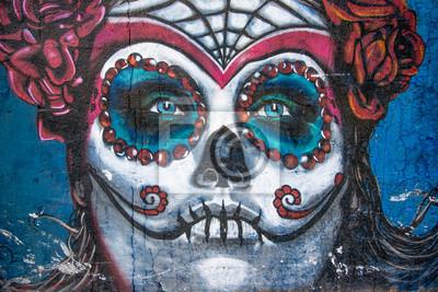 Naklejka Catrina piękne tło grafitti