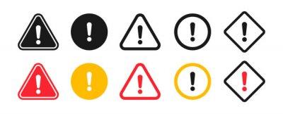 Naklejka Caution signs. Symbols danger and warning signs.