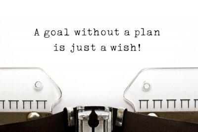 Naklejka Cel bez planu jest tylko życzeniem