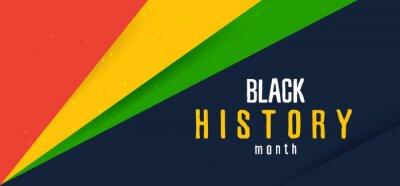 Naklejka Celebrate Black history month. Horizontal banner.