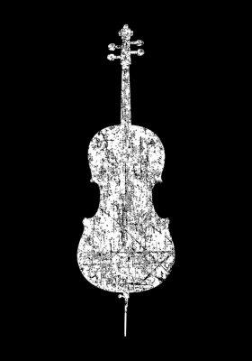 Naklejka Cello (Ancient White)