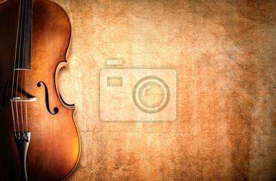 Naklejka Cello and blank grunge background