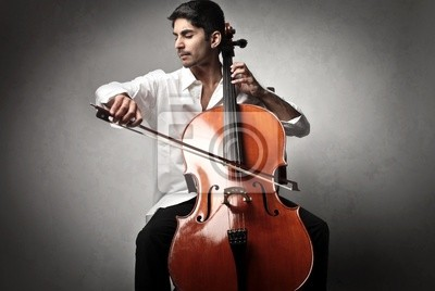 Naklejka Cello gracza