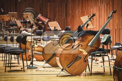 Naklejka Cello Instrumenty muzyczne na scenie