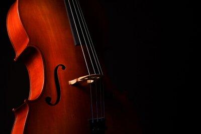 Naklejka Cello isolated on black background