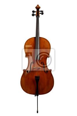 Naklejka Cello samodzielnie na białym tle
