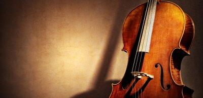 Naklejka Cello tle z miejsca kopiowania dla koncepcji muzyki