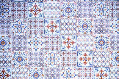 Naklejka Ceramic tiles with patterns